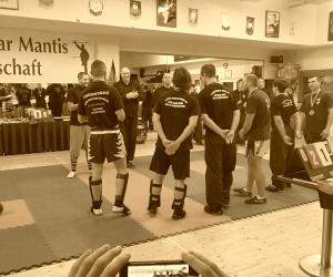 Sifu Peter Frömke mit Turnierteam auf der Deutschen Seven Star Mantis Meisterschaft