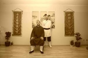 Sifu Peter Frömke und sein Lehrer-Schüler Gau Lin Thomas Immke